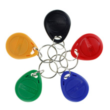 Keyfobs Access-Control-System Rfid-Key 125khz NFC for Entry 5-Colors TK4100 10pcs Keychains