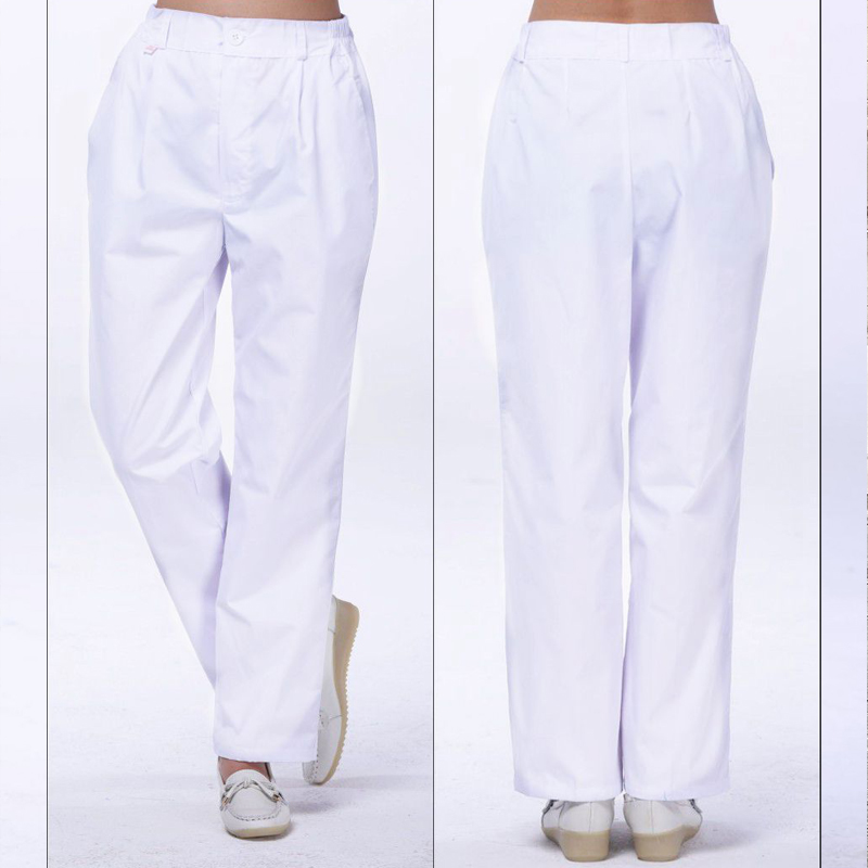 New Style Female Nurse Pants Full Elastic Trousers White Winter And Summer Nurse Suit Pregnant Women Pants Doctor Blue Pink