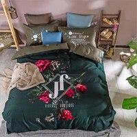 100%Cotton Pastoral Flowers and Plants Bird Pattern Duvet Cover Bed Sheet Set Reactive Dyeing Princess Room Bedding Set