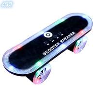 BT03LED subwoofer player LED colorful flash scooter Bluetooth speaker wireless subwoofer diaphragm card TF card light