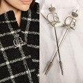 2017 special presentes festival cheio de cristal menina broche pinos broches de pérolas longo marca de jóias cachecol clips para as mulheres