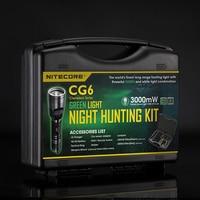 topsale NITECORE CREE XPG2 R5 White Green light CG6 HUNTING Flashlight KIT tool Gear Hunting Enforcement Military Outdoor Search