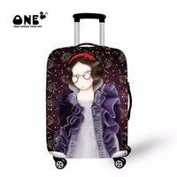 ONE2 2017 New Design Luggage Cover With Zipper About Virgo Of Twelve Constellations Travel Suitcase Cover
