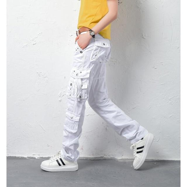 5e7667ed30 Nouveau -Femmes-coton-Pantalon-Cargo-Loisirs-Pantalon-plus-Poche-de-pantalon-pantalon-Droit-Femmes-Militaire-V.jpg_640x640.jpg