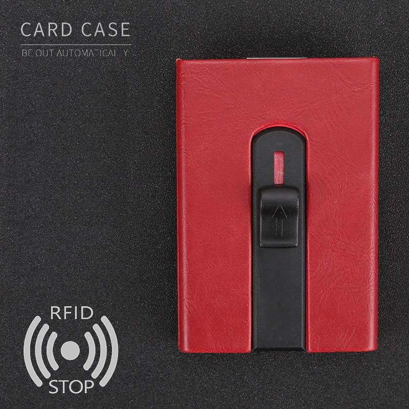 Mens Front Pocket Wallet RFID Blocking Business Card Holder Aluminum ...