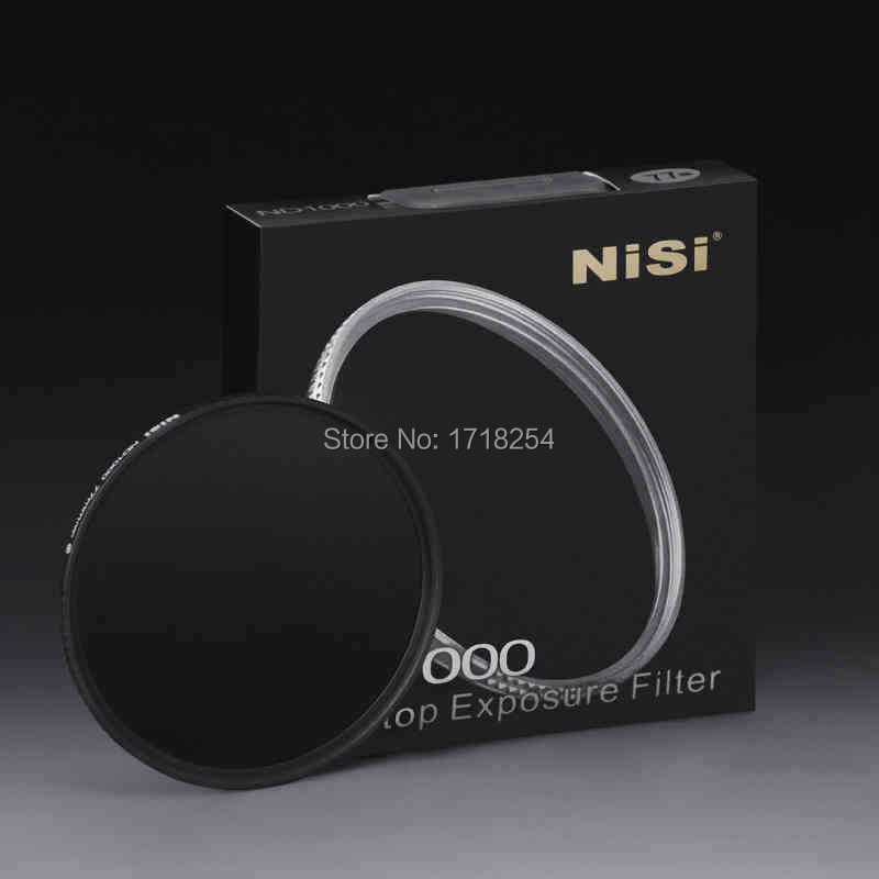 NiSi 72mm ND1000 Ultra Thin Neutral Density Filter 10 Stop for Digital SLR Camera ND 1000 72mm Slim Lens Filters nisi 77mm nd4 500 ultra thin neutral density adjustable dimmer filter