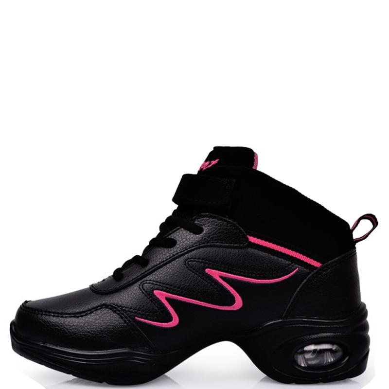 03c6923c5f8c5 Cuero genuino zapatos de baile Sneaker zapatos de baile para las mujeres  salón moderno mujer Zapatillas Jazz zapatos de baile de Salsa