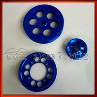 3 pcs/set blue Underdrive Crank Pulley for Toyota GS300 CS300 Supra 2JZ 2JZGE 2JZGTE JZA80