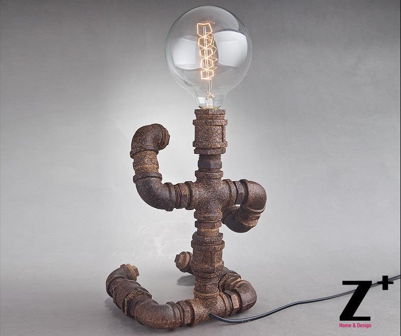 Stile Industriale Americano Fatto A Mano Fai Da Te Rustico Tubo Di Ferro Robot Lampada Da Tavolo Abajur Lamp Camera Lamp Maderobot Puzzle Aliexpress