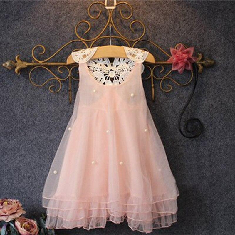 Lindo Niñas princesa vestido sin mangas Encaje volver floral diseño ...