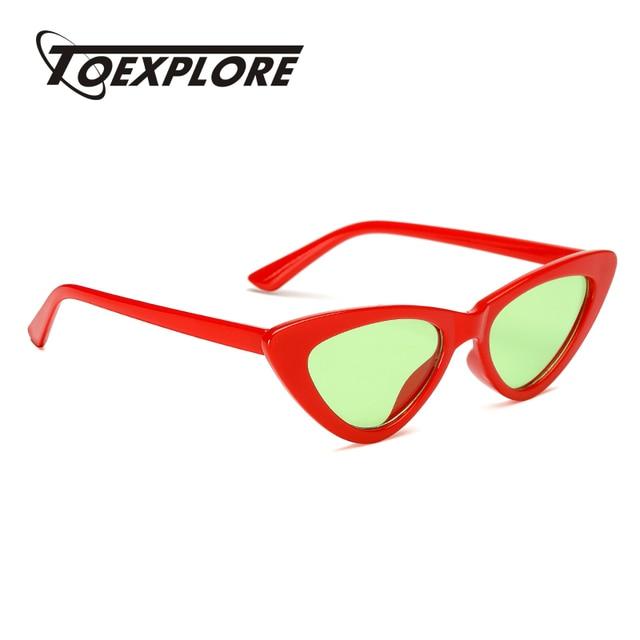 9b5b38dfa14 TOEXPLORE Retro Cat Eye Men Women Sunglasses Brand Designer Eyewear Outdoor  mirror Sun Glasses New Fashion High Quality UV400