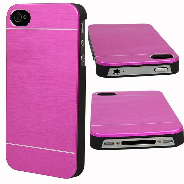Luxury Matte Motomo Aluminum Metal+PC Brush Case For Apple iPhone 4 4s 5 5s Back Hard Phone cases Cover capa para fundas