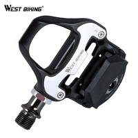 WEST BIKING Road Bike Pedal Self Locking Pedals Beginner Aluminum Alloy Bicycle Cycling Platform Pedals Include