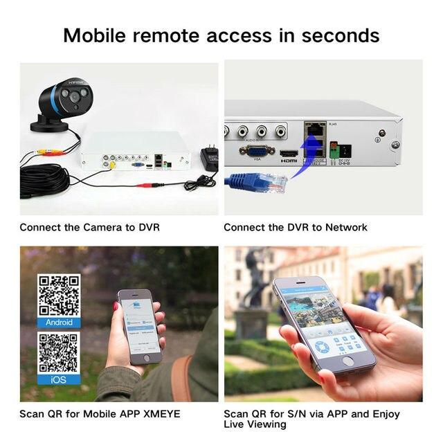 H.VIEW Security Camera System 8ch CCTV System 4 1080P CCTV Camera Video Surveillance Kit 8ch DVR Video Surveillance Outdoor 5