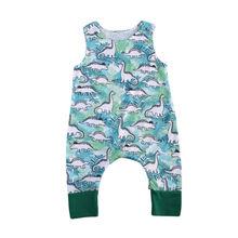 Tops Baby Kids Boys Girls Newborn Sleeveless Romper Jumpsuit Cotton Clothes Outfit 0-18M стоимость
