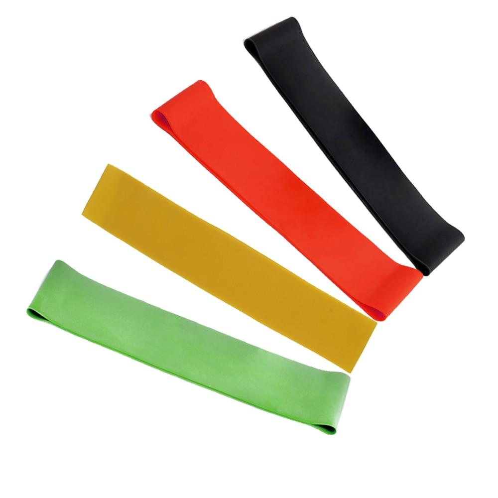4vnt. 4 lygių gumos atsparumo juostos, skirtos naudoti treniruokliai Kūno statyba Latekso traukos lynų treniruotė Jogos stiprumo juosta