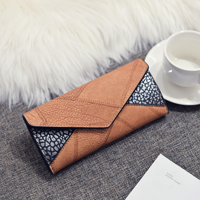 Trifold Leather Clutch Purse 2