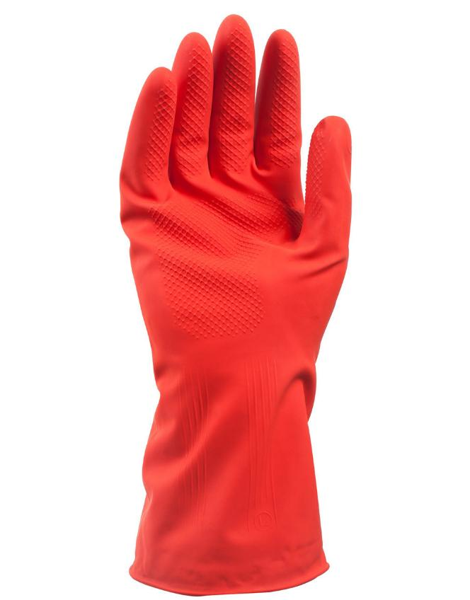 Wholesale 2 pc/lot Latex household gloves waterproof warm plus velvet short dishwashing thickening
