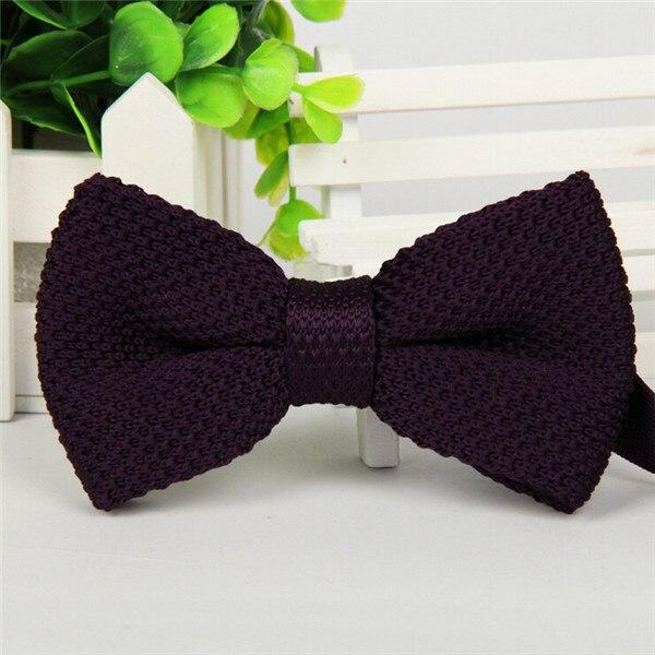 Фирменная новинка, мужской однотонный Вязаный Галстук-бабочка, Модный свадебный смокинг, красный, черный, белый, зеленый, голубой конфетный цвет, галстуки-бабочки - Цвет: 06