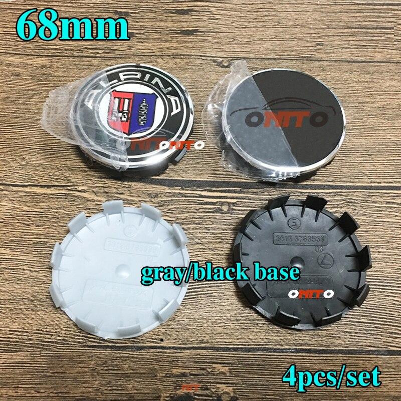4 Pcs Car Styling 68mm 10 Pin Auto Car Hub Center Wheel Covers Copper Rim Covers For E46 E30 E39 E34 E60 E36 E38 M3 Gray/black