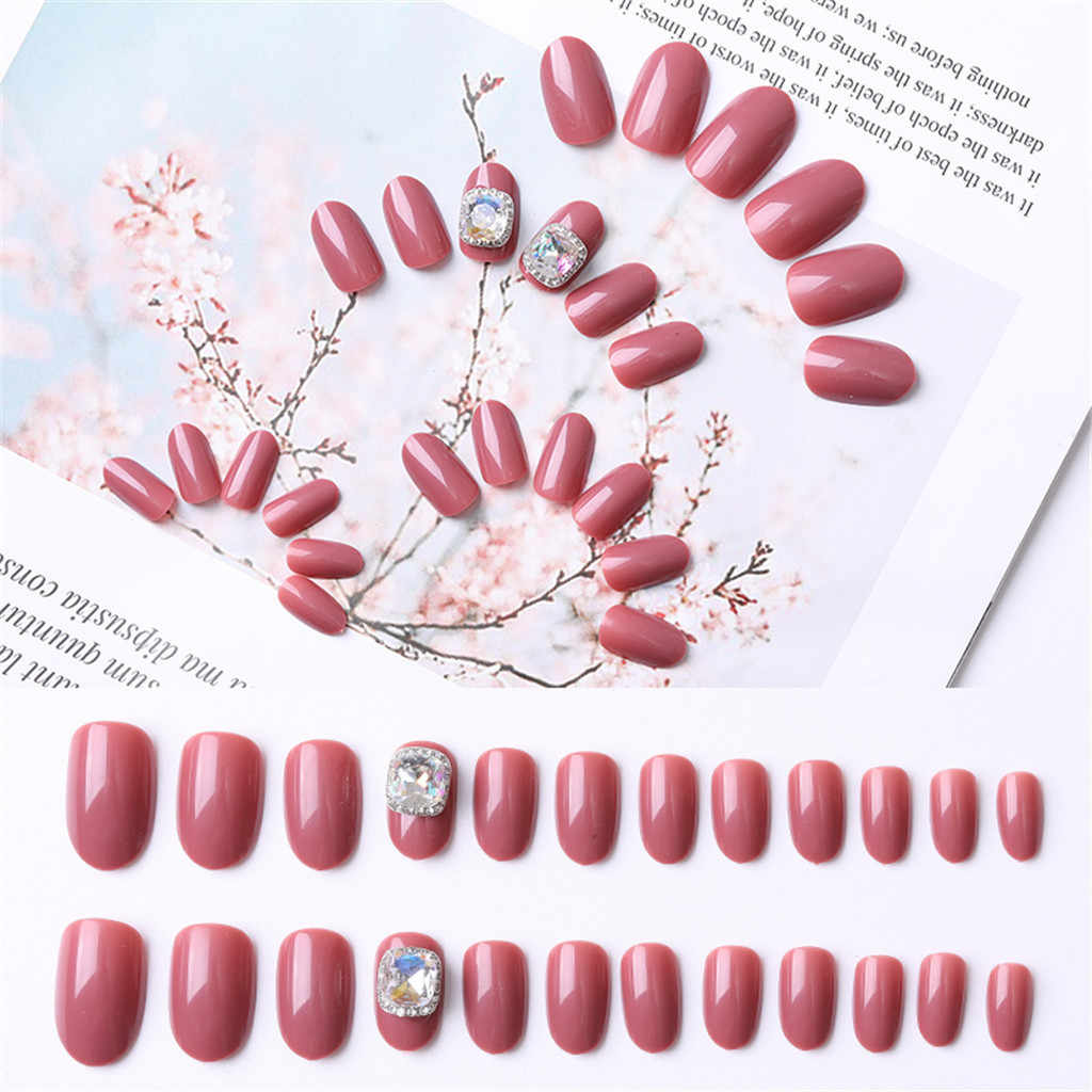 OutTop Nail Art Nieuwe Mode Nail Art Delige Wilde Dragen Nagels Patch Rode Serie Cover Nep Nagels 2019 Jun06