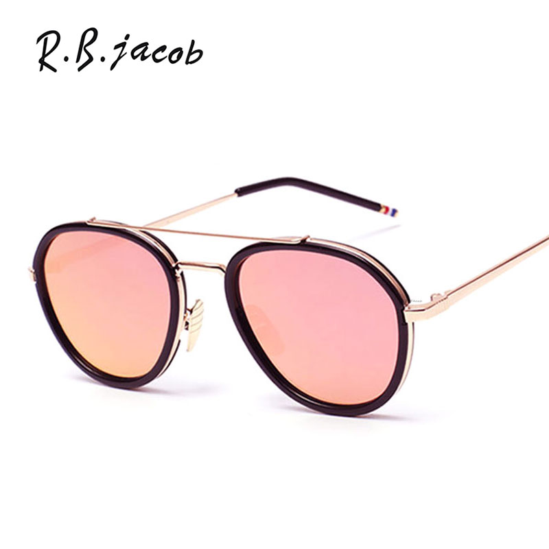 Mirror Pink Pilot Classic Women Fashion Sunglasses Red Alloy Frame Oval High Quality Retro Female Sun glasses Today offers