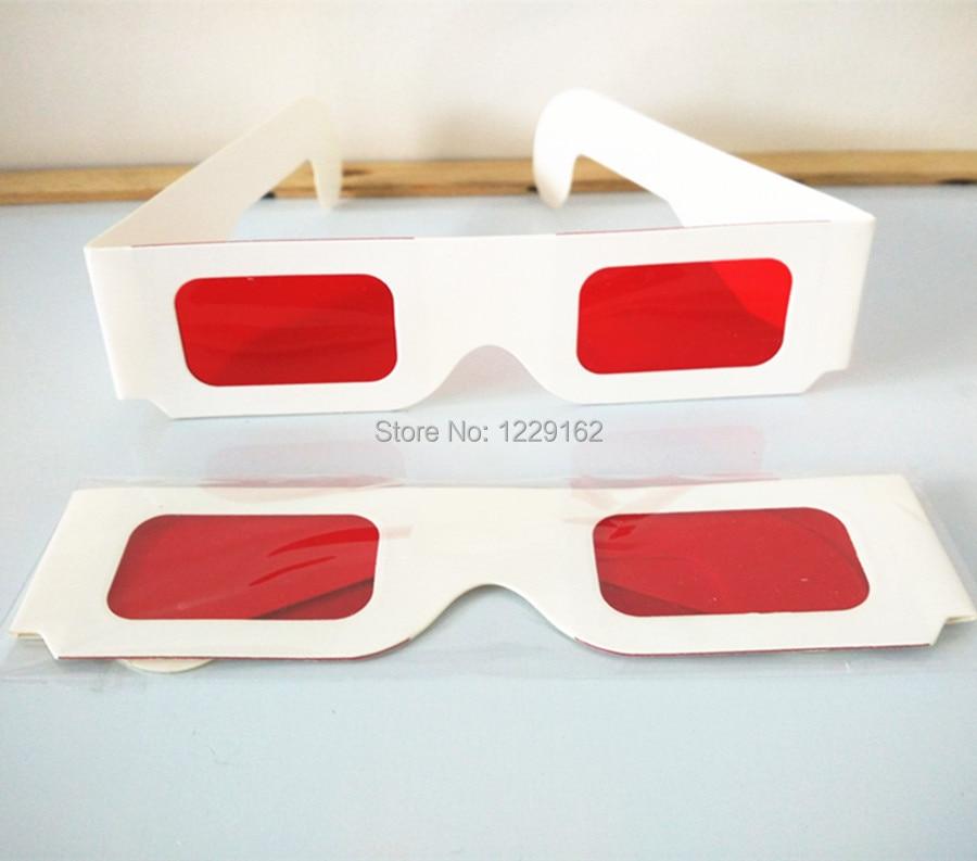 <font><b>Free</b></font> <font><b>shipping</b></font> (50pcs/<font><b>lot</b></font>) Re-useable <font><b>white</b></font> <font><b>paper</b></font> 3D <font><b>glasses</b></font> <font><b>Paper</b></font> Frame Red/Red lens 3d decoder <font><b>glasses</b></font>