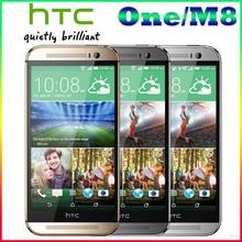"Бесплатная доставка G HTC M8 100% Ori G инал HTC One M8 PH One с 5.0 ""экран quad- Core двойной 4MP + 5MP Камера WI-FI GPS 4 г LTE cellph One"