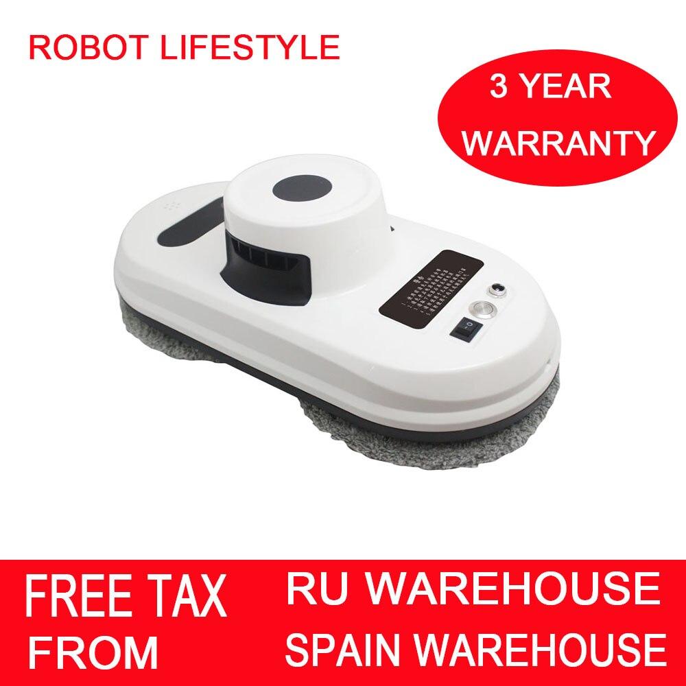 Robot de limpieza de ventanas, aspiradora de fuerte succión, anticaída, Control remoto, limpiador de vidrio magnético inteligente