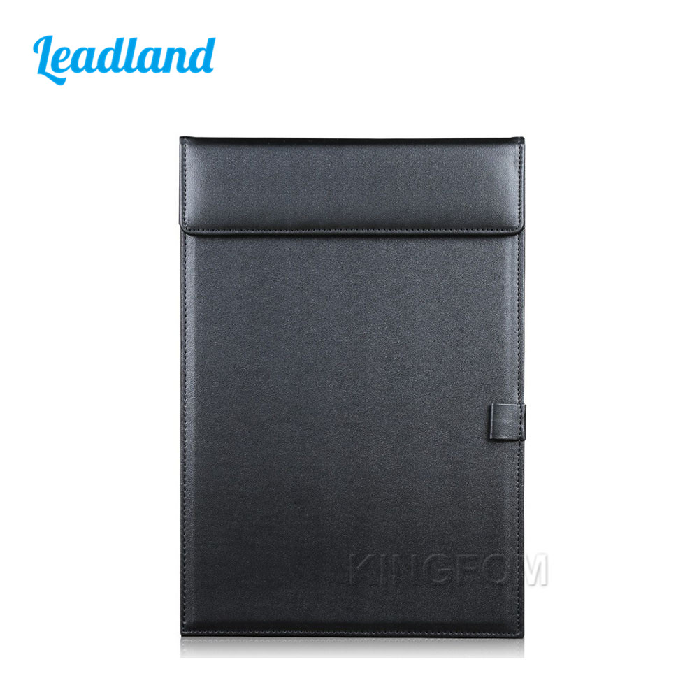Office A4 File Paper Clip Folder Magnetic PU Leather Drawing & Writing Clip Board Tablet Pad With Pen Slot