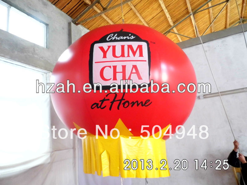 Red Inflatable Decorations Balloon ao058m 2m hot selling inflatable advertising helium balloon ball pvc helium balioon inflatable sphere sky balloon for sale
