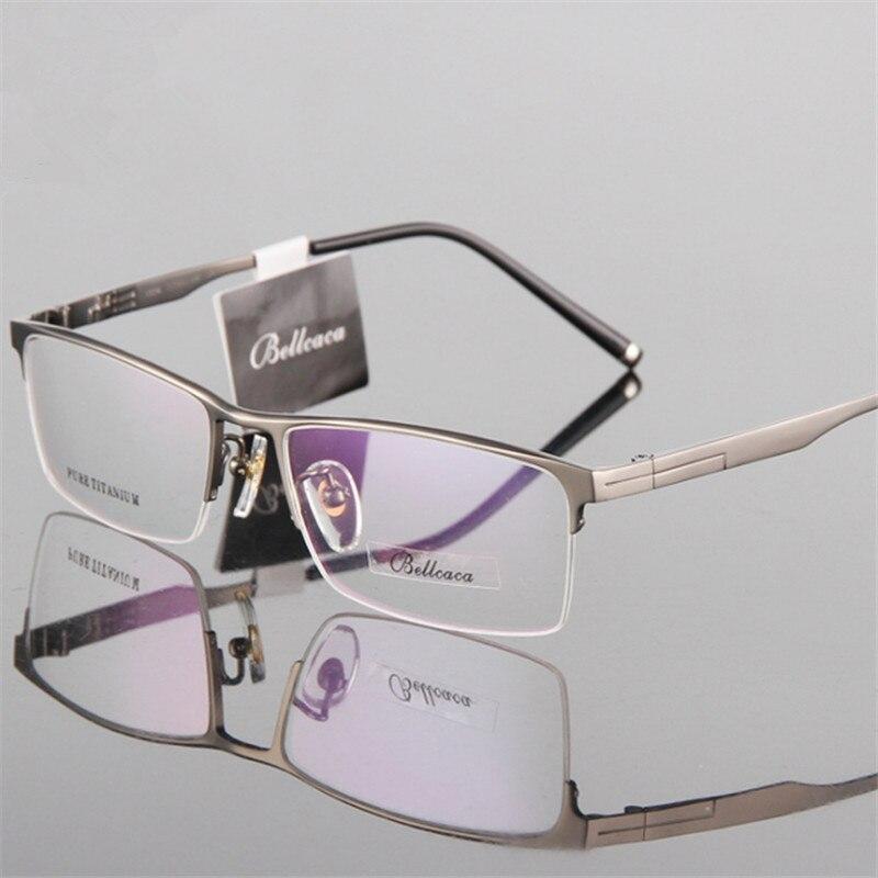 Titanium Glasses Frame Men Ultralight Square Myopia Prescription Eyeglasses Male Metal Half frame Optical Frame