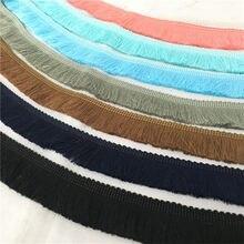 Decoración de encaje fino con borlas y flecos de algodón de 2 yardas 7LS73
