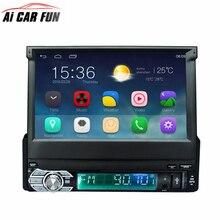 """Android 6.0 автомобиль Радио стерео 7 """"емкостный Сенсорный экран 1Din 1024*600 универсальный для GPS навигации BT Радио стерео аудио плеер"""