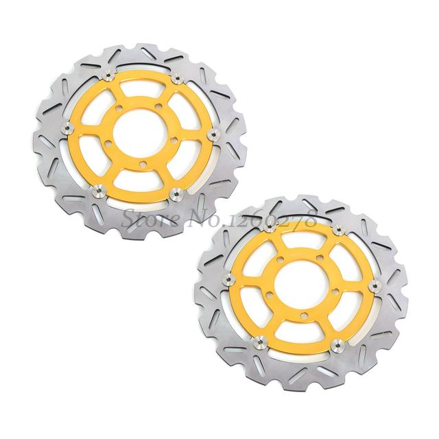 Front Brake Rotor Disc 2pcs For Kawasaki ZZR 1400 FCF/FDF (ABS) 12-15