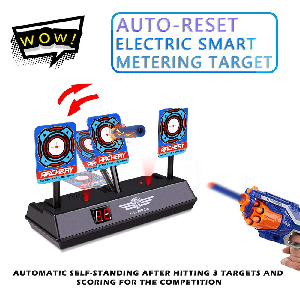 Auto-Reset Intelligent Light Sound Effect Scoring Electronic Digital Target Toys