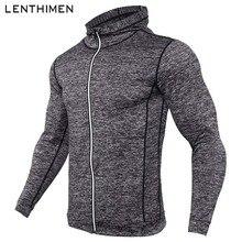 Новинка, мужские куртки для бега, фитнеса, спорта, пальто с капюшоном, плотная толстовка, для спортзала, футбола, тренировок, бега, бега, куртки, светоотражающая молния