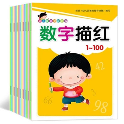 20 Book / Set Kids Chinese Characters Hanzi Pinyin Match Copybook Exercise Book Chinese Order Radicals Workbook For Children