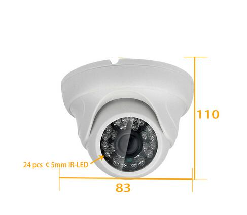 HD 720P 960P 1080P Dome AHD Camera 1MP 1.3MP 2MP CMOS Security Night Vision IR 20m CCTV AHD Camera For AHD DVR zilnk security analog hd 960p ahd camera night vision indoor ir 20m 3 6mm lens ir cut filter dome cctv camera