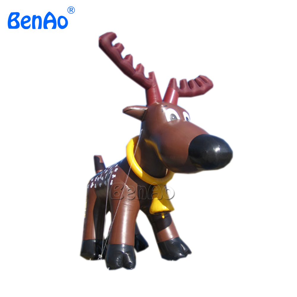 X048 Huge Inflatable Reindeer Christmas Shopping Center Yard Art Decoration + 1 CE/UL Blower + Repair Kids inflatable cartoon customized advertising giant christmas inflatable santa claus for christmas outdoor decoration