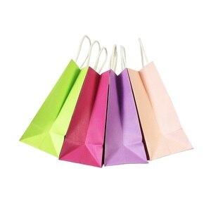 Image 5 - 40 Pz/lotto Kraft sacchetto di carta Regalo con maniglia 18x15x8cm da sposa festa di compleanno del regalo sacchetti del pacchetto natale anno nuovo Commercio Allingrosso
