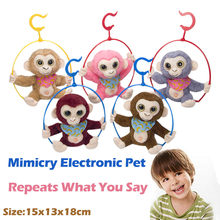 Cute Mimicry Pet Talking Monkey Repeats What You Say Electronic Plush Toy Cute Kawaii New Creative 2019(China)