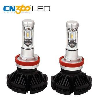 CN360 2PCS X3 H11 LED ZES Chip Headlight Bulb 3000K 6000 8000K Perfect Light Beam Pattern 50W Waterproof Lamp 9V 32V 6000LM