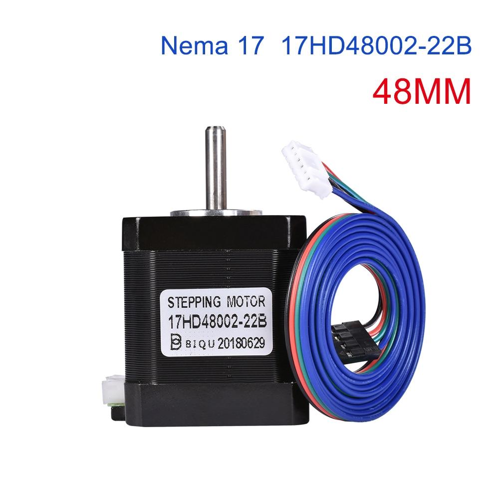 4/5pcs 4-lead Nema17 48mm Stepper Motor 42 motor Nema 17 motor 1.7A (17HD48002) 3D printer motor and CNC XYZ
