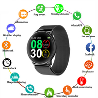 Uwatch2 Smart Watch For Andriod,IOS 1.33' Full Touch Screen IP67 25 days Standby 7 Sport Modes Full Metal Unibody