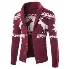 25d32c779883b Noel Kazak Tek Göğüslü Örme Mens Polo Kazak Kış ve Sonbahar Geyik Tasarımcı  Kazak Hırka Erkek