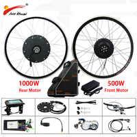 "48 V 500 W 1000 W Electric Bike Conversion Kit mit 20AH Batterie Hinten Bürstenlosen Motor Rad für 26"" 700C e Bike Elektronische Bike Kit"