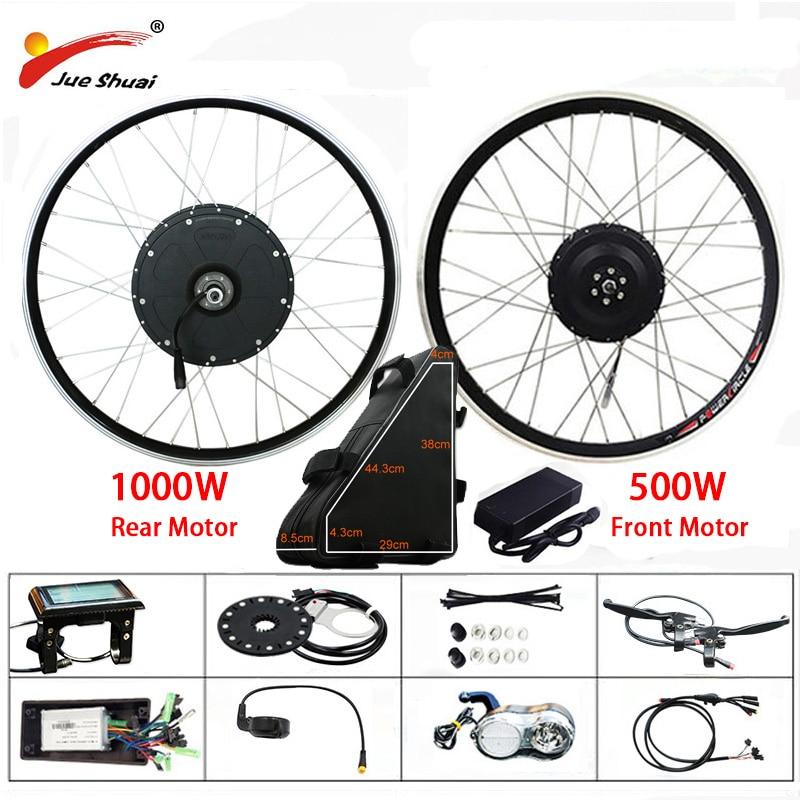 48 V 500 W 1000 W Electric Bike Conversion Kit mit 20AH Batterie Hinten Bürstenlosen Motor Rad für 26