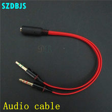 1pcs 3.5mm Mini Jack 1 Female to 2 Male (Headset + Mic) Y Splitter Earphone Audio Cable(China)
