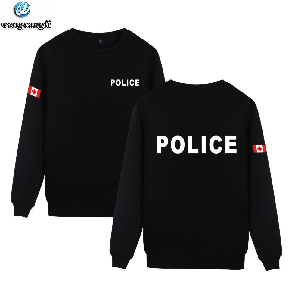 Police hoodie gray black police sweatshirt Men/'s size sweat shirt hoody